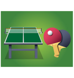 Ping pong table boards vector