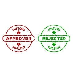 print for customs inspection vector image