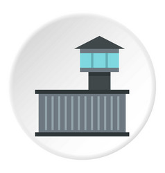prison tower icon circle vector image