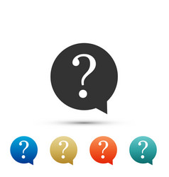 question mark in circle icon on white background vector image