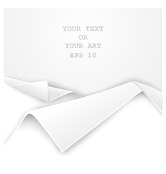 Realistic folded edge of white paper vector