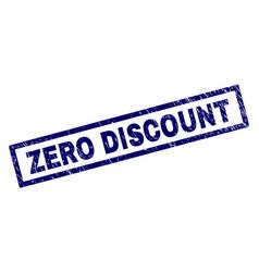 rectangle grunge zero discount stamp vector image