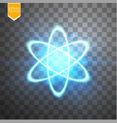 shining atom scheme isolated on black transparent vector image