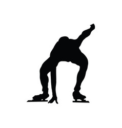 skating man silhouette vector image