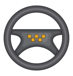 Steering wheel of taxi icon cartoon style vector