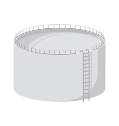 Storage oil tank cartoon icon vector