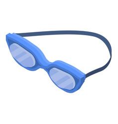 swim glasses icon isometric style vector image