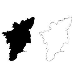 Tamil nadu map vector