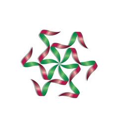 tape shape star symbol vector image
