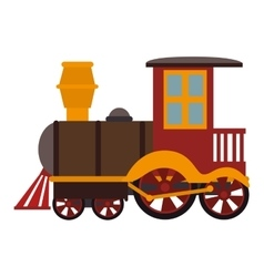 train kid toy icon vector image