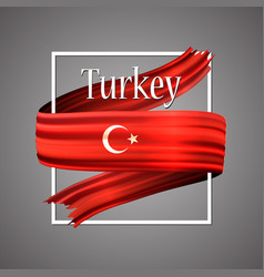 Turkey flag official national turkish 3d vector