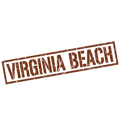 Virginia Beach brown square stamp vector