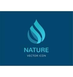 water wave and drop icon symbols vector image