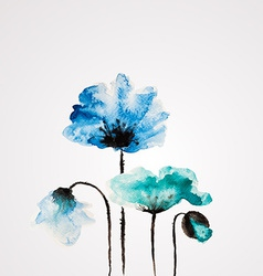 Watercolor flower vector image