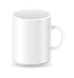 White blank cup vector