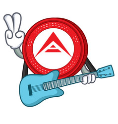 With guitar ark coin character cartoon vector