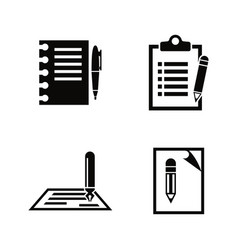 writing edit write simple related icons vector image