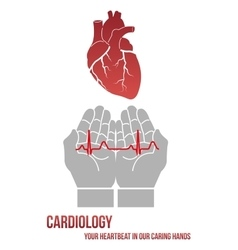 Your heartbeat in our caring hands vector