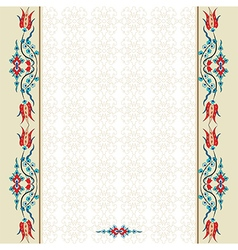 Antique ottoman turkish pattern design ninety vector