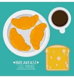 Breakfast food design vector image vector image