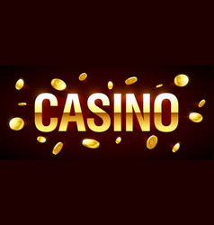 casino gambling game banner with casino vector image vector image