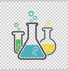 chemical test tube pictogram icon laboratory vector image
