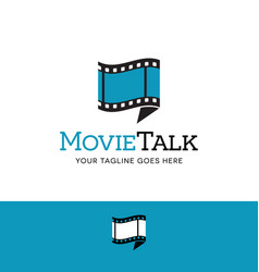film and talk bubble logo vector image