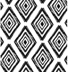 hand drawn seamless diamond shapes pattern in vector image vector image