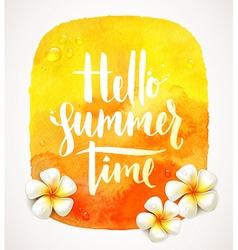 Hello summer time vector