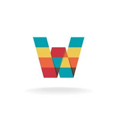 Letter W logo vector image vector image