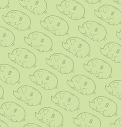 seamless piggy bank pattern two vector image vector image