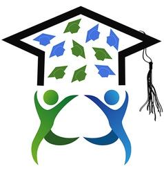 symbol of graduation vector image vector image