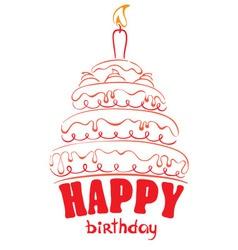 cake - happy birthday vector image