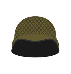 military helmet isolated soldier protective hard vector image