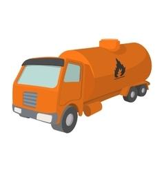 Orange oil truck cartoon icon vector image