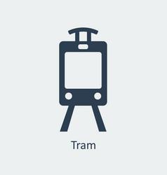 tram icon silhouette icon vector image