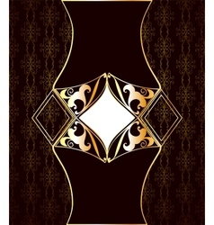 Vintage art brown background vector image vector image