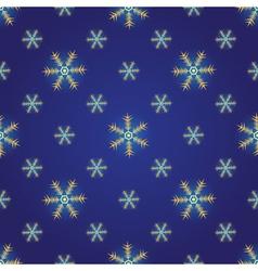 Winter dark blue seamless pattern vector image vector image
