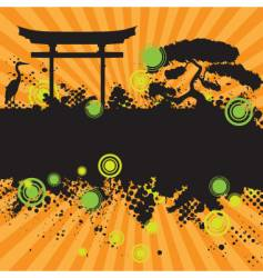 asian style landscape vector image vector image
