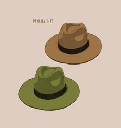 beach hat panama vector image