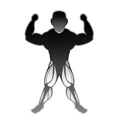 bodybuilding man silhouette vector image