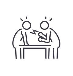 disputedebateconversation line icon sign vector image