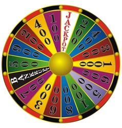 fortune wheel vector image vector image