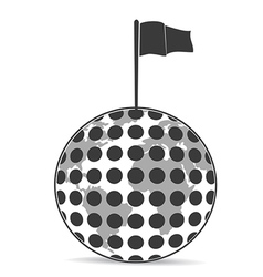 Golf Planet with flag vector image vector image