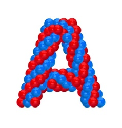 letter a from balloon vector image