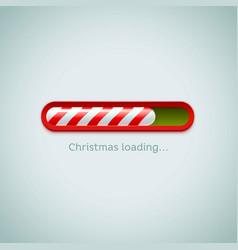realistic christmas candy cane progress bar on vector image