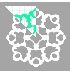 Stencil ornament for hand made snowflake vector image vector image