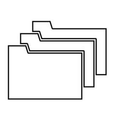 Folders black color icon vector