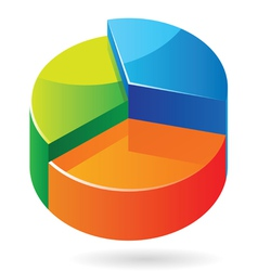Isometric icon graph vector image vector image