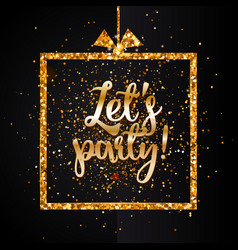 lets party banner vector image